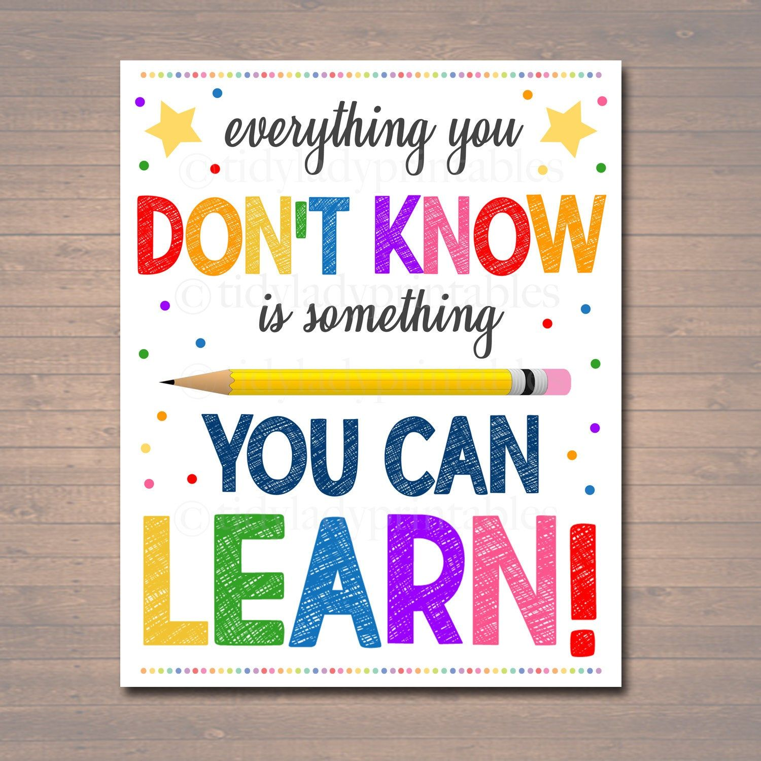 Printable Everything You Don T Know Can Learn Poster