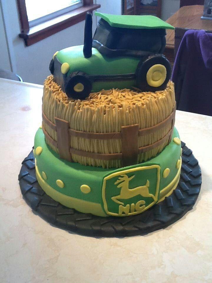 Tractor Cake Easton S Birthday Party Ideas Pinterest
