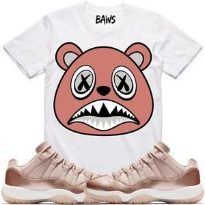 6848b52dba72 Baws T-Shirt ROSE GOLD BAWS Sneaker Tees Shirt - Jordan 11 Low Rose Gold