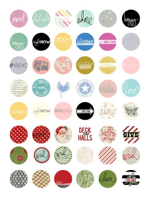 collage sheet round by Gracie and Joy printable 12 mm round print it yourself coffee art bottle cap 12 mm coffee love bottle cap art