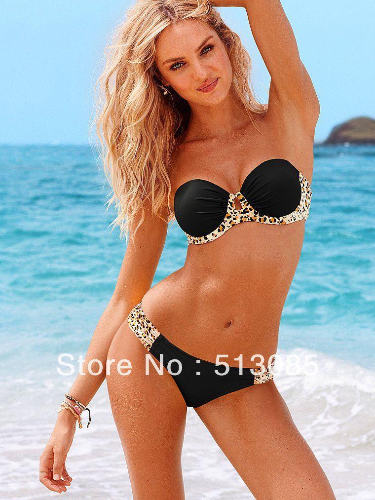 8acfd17ed8 2014 New Arrival! 2PCS Women Leopard Swimsuit Push Up Bikini ...