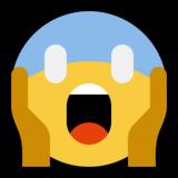 Face Screaming In Fear Emoji On Microsoft Windows 10 Anniversary Update Fear Microsoft Windows 10 Anniversary