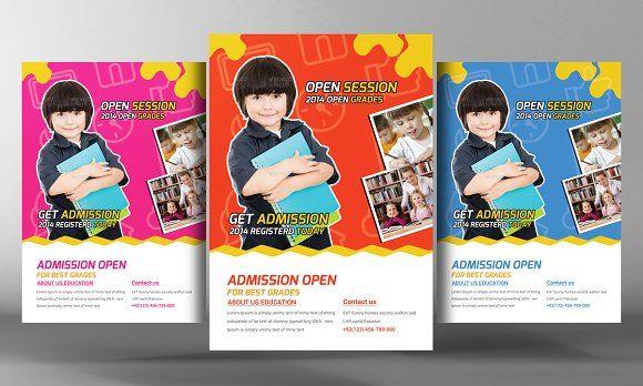 Kids Development Flyer Template by Business Templates on @creativemarket