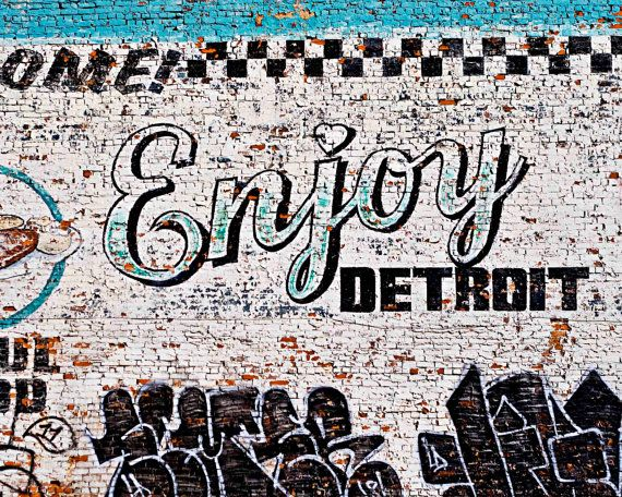Detroit photography enjoy detroit brick wall detroit photo fine art photo