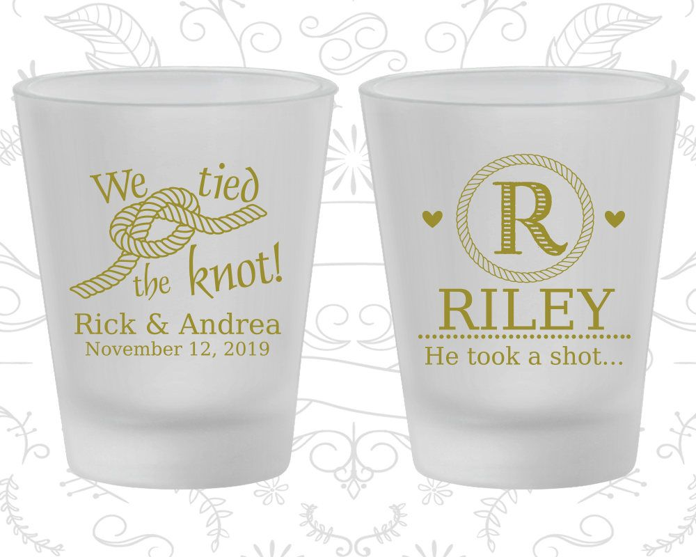 Frosted Wedding Shot Glass, Take a Shot, Wedding Favors, Wedding ...