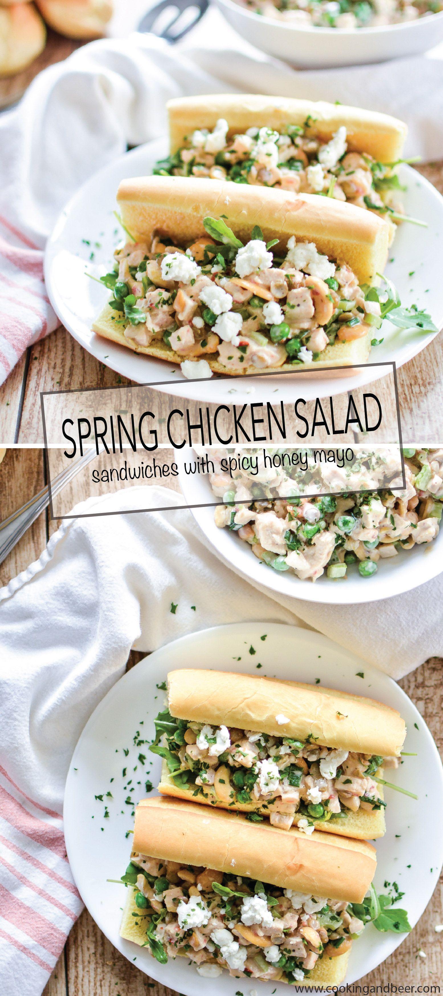 Spring Chicken Salad Sandwiches With Lentils And Spicy Honey Mayo Recipe Chicken Salad Recipe Easy Chicken Salad Sandwich Traditional Chicken Salad Sandwich