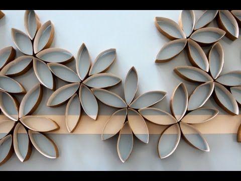 Wanddeko Ideen schöne wanddeko ideen mit toilettenpapierrollen zum selberbasteln
