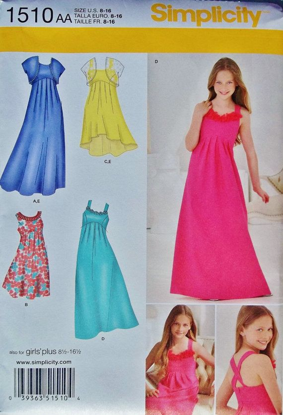 Girls Special Occasion Dress Pattern Girls Formal Dress Pattern