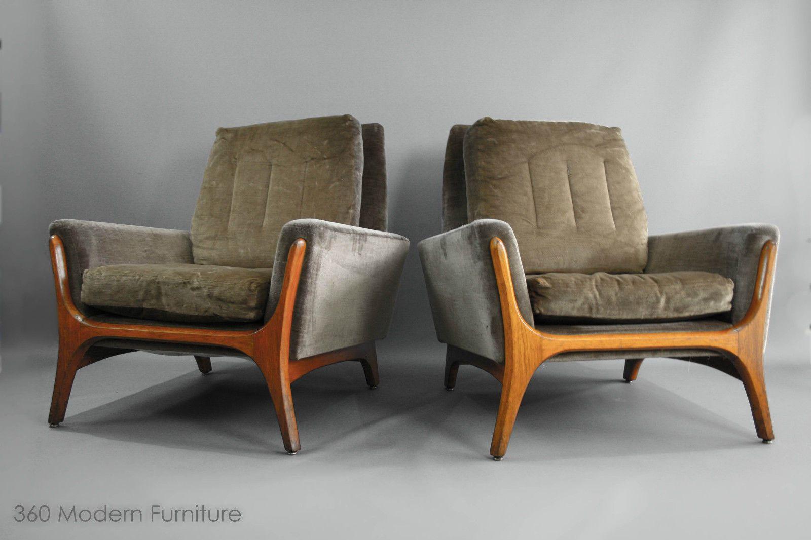 Danish Style Sofa Australia Beds At Dreams Mid Century Modern Armchairs X 2 Teak Retro Vintage Lounge
