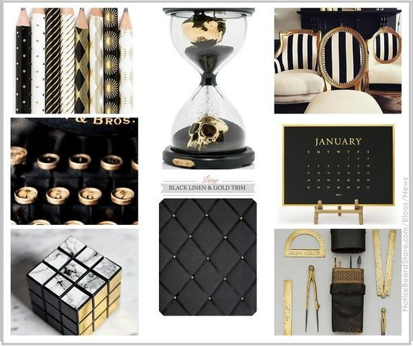 Dream Office In Black And Gold Gold Office Decor Gold Office