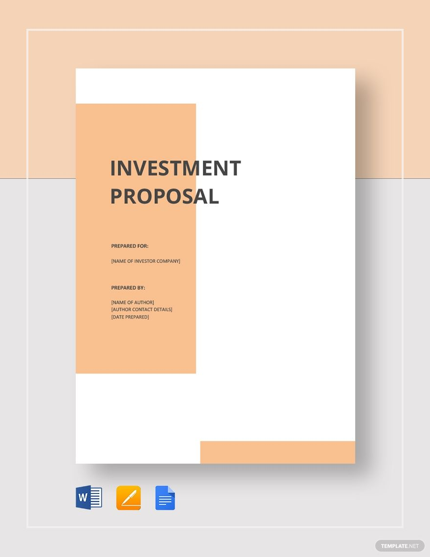 Small Business Investment Proposal Template Free Pdf Google Docs Word Apple Pages Pdf Template Net Proposal Templates Business Proposal Template Business Investment Business proposal cover page template