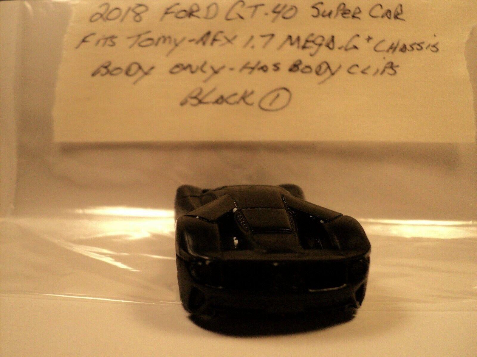 link) HO Slot Car Body Ford GT-40 Super Car (BLACK-1) AFX/TOMY 1.7 Mega-G Chassis $4.99(eBay link)