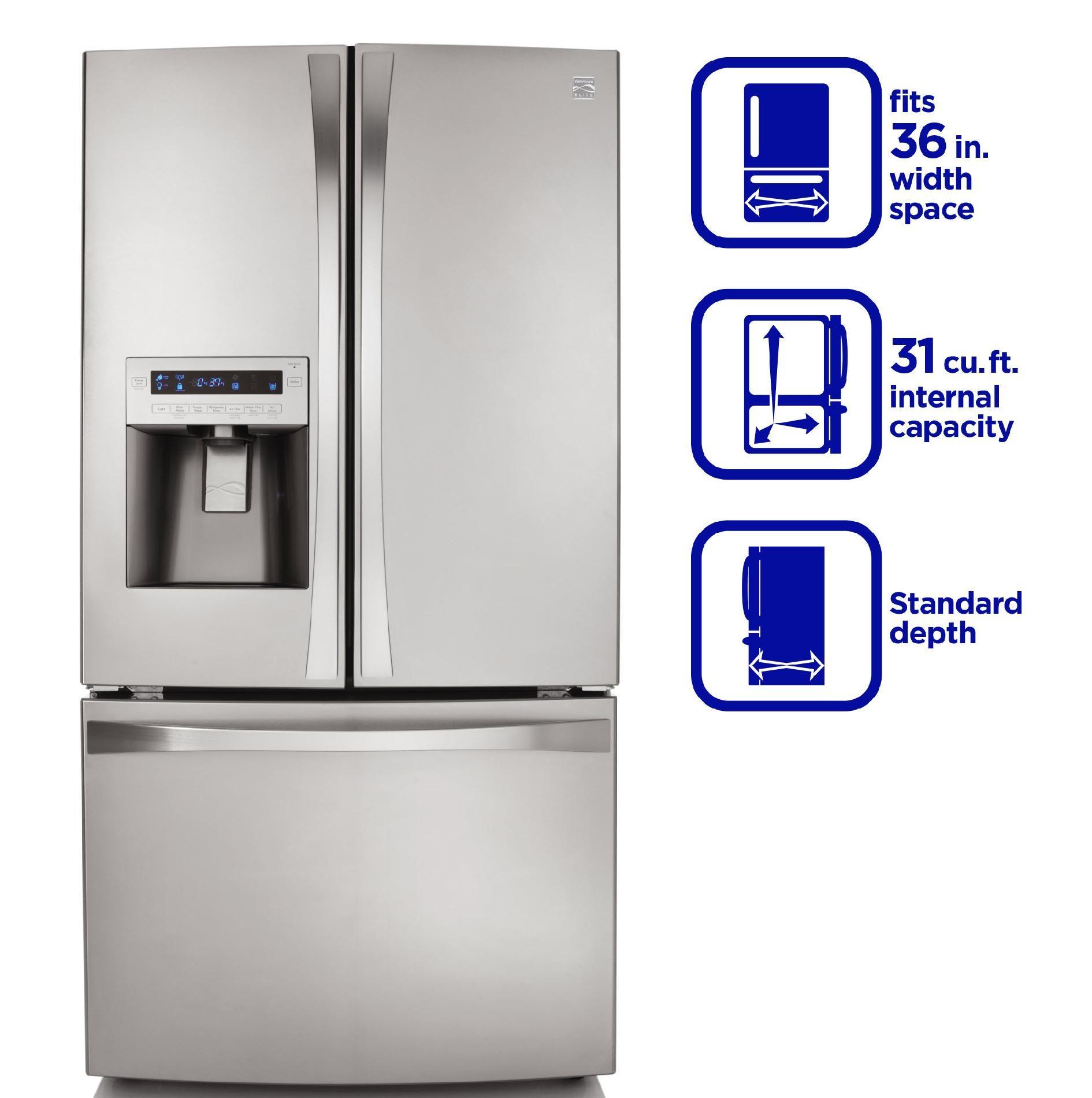 Kenmore Elite 31 0 Cu Ft French Door Bottom Freezer Refrigerator French Door Bottom Freezer Refrigerator French Door Bottom Freezer French Door Refrigerator