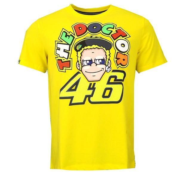 Valentino Rossi Vr46 The Doctor Moto Gp T Shirt Yellow Official 2016 Valentino Rossi Valentino T Shirt Valentino Rossi 46