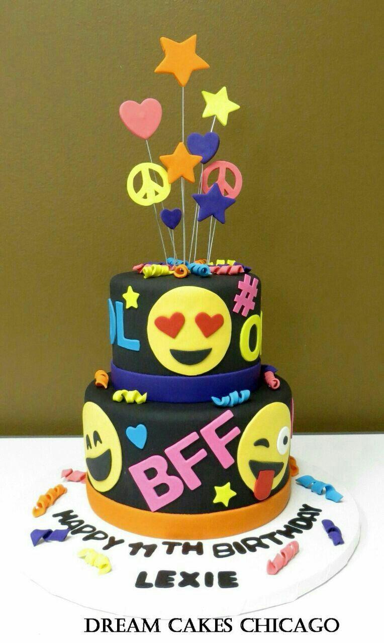 Pinterest Eraloshaa Emoji Birthday Cake Emoji Cake