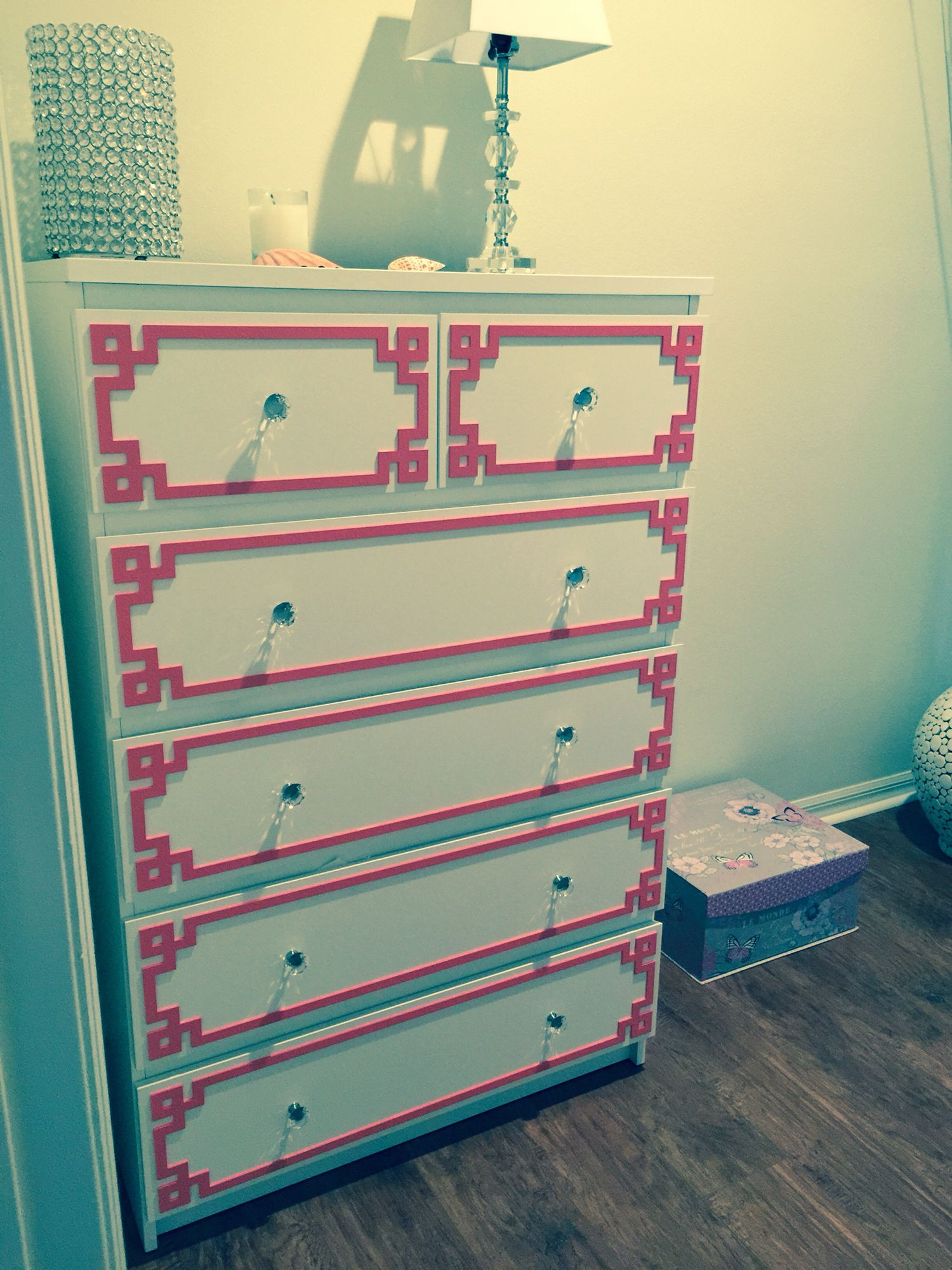My IKEA malm hack . The color is coral not pink though
