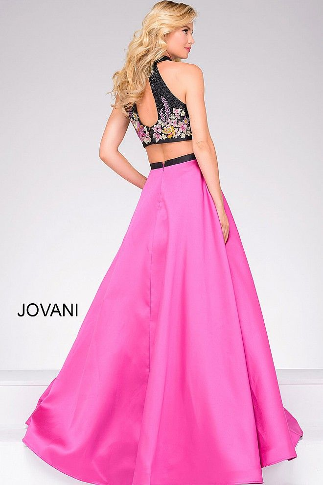 Fuchsia and Black Two-Piece Prom Ballgown 59350 | Cool stuff to buy ...
