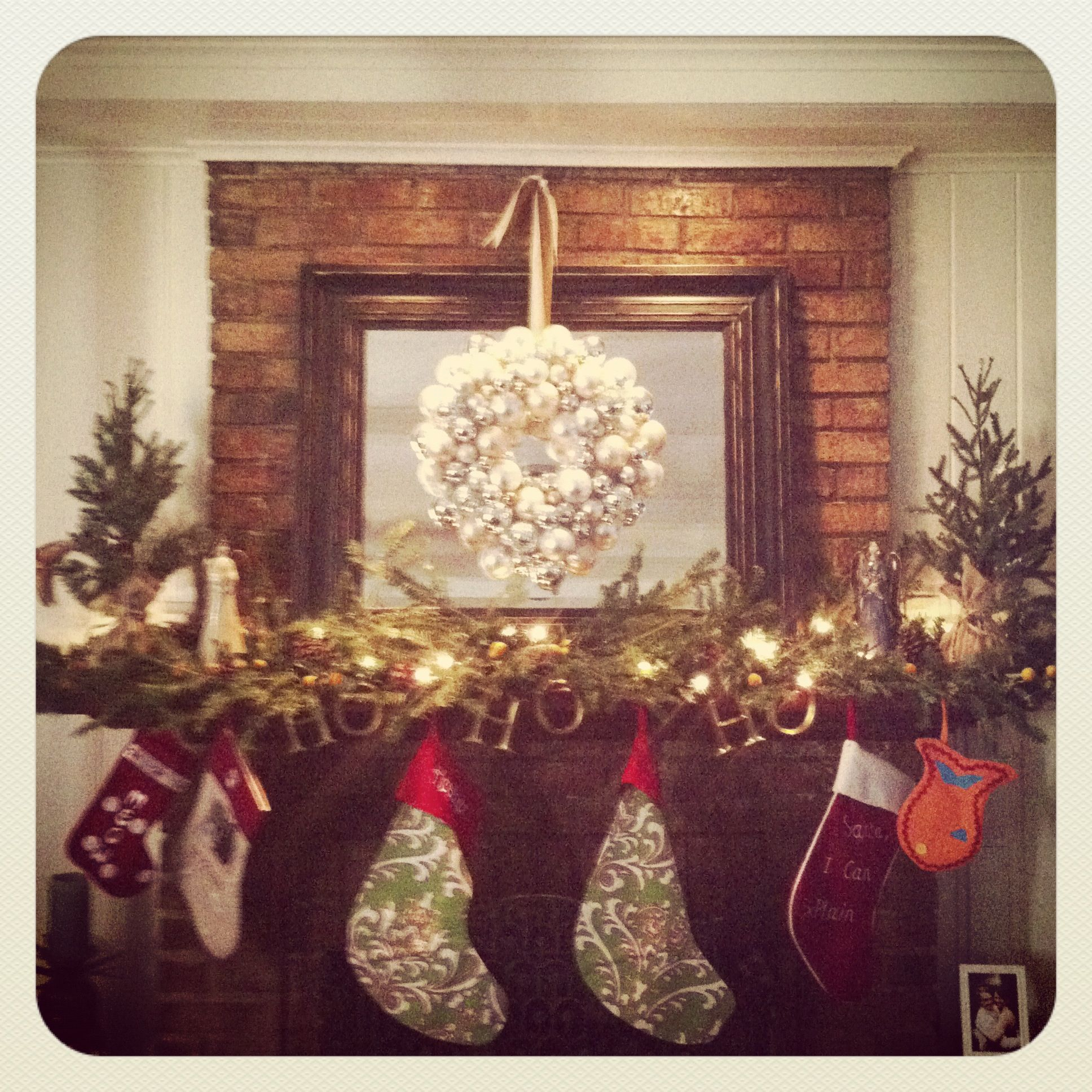 My Mantle Decorated For Christmas 2012Theme Rustic