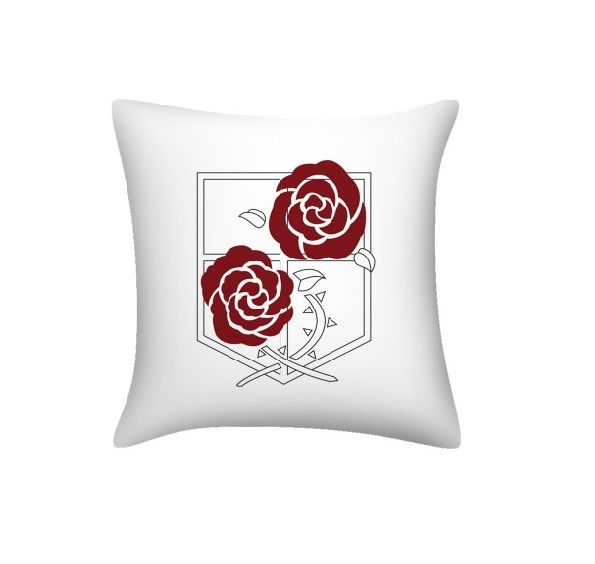 Attack on Titan Pillow Stationed Corps Logo Anime Pillow For Sofa
