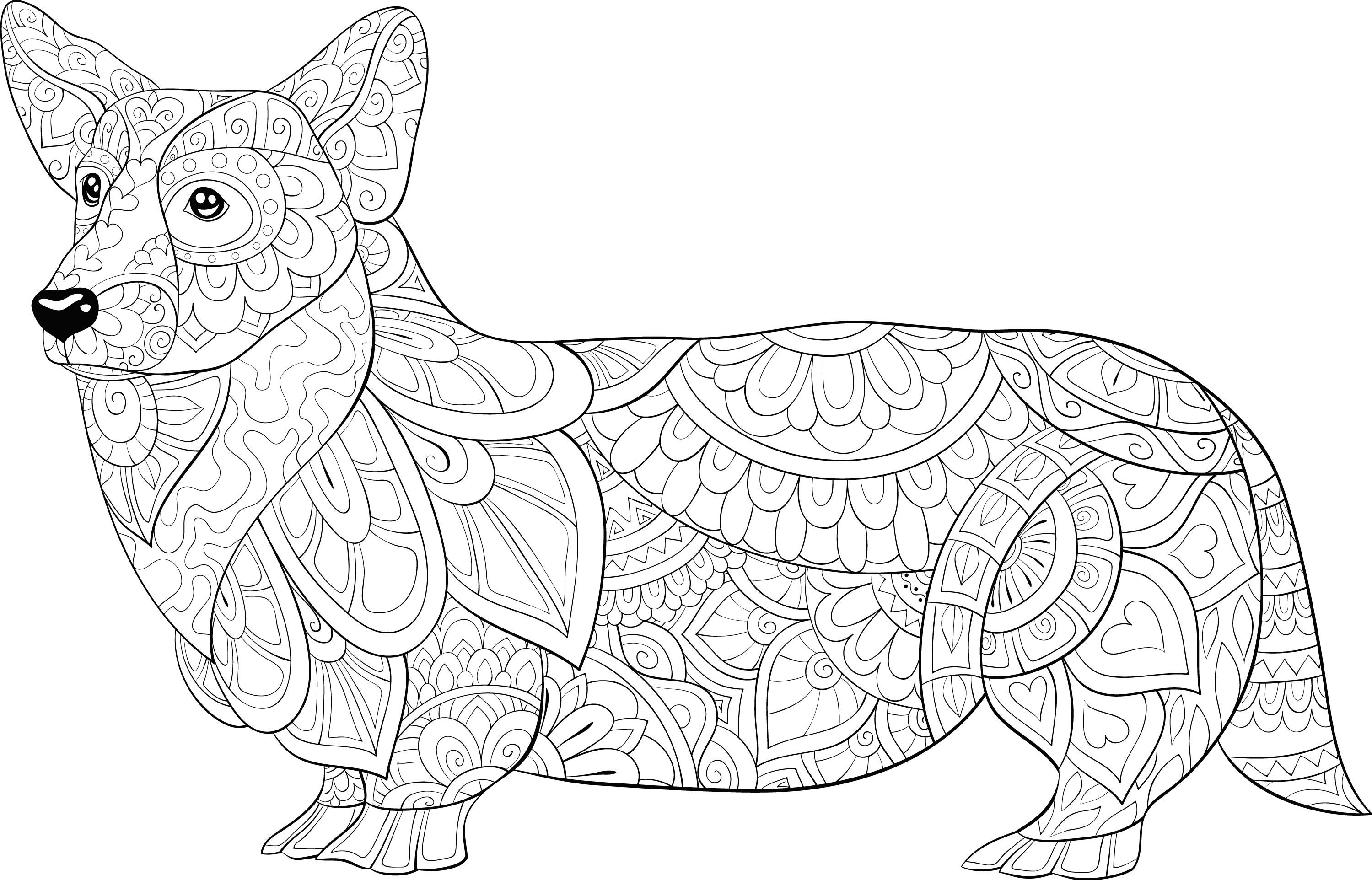 Available Amazon For 8 In 2021 Dog Coloring Page Cute Dogs Images Dog Images [ 1924 x 2999 Pixel ]