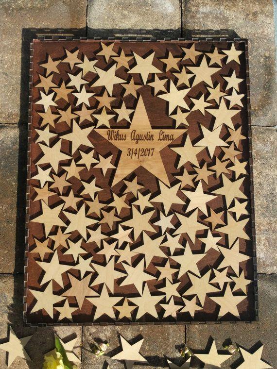Wedding Guest book drop box (Alternate Guestbook) Star