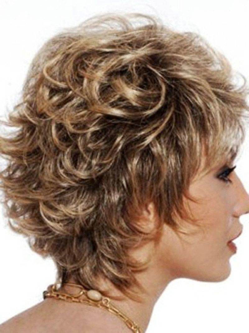 kurzhaarfrisuren für frauen locken pinterest short