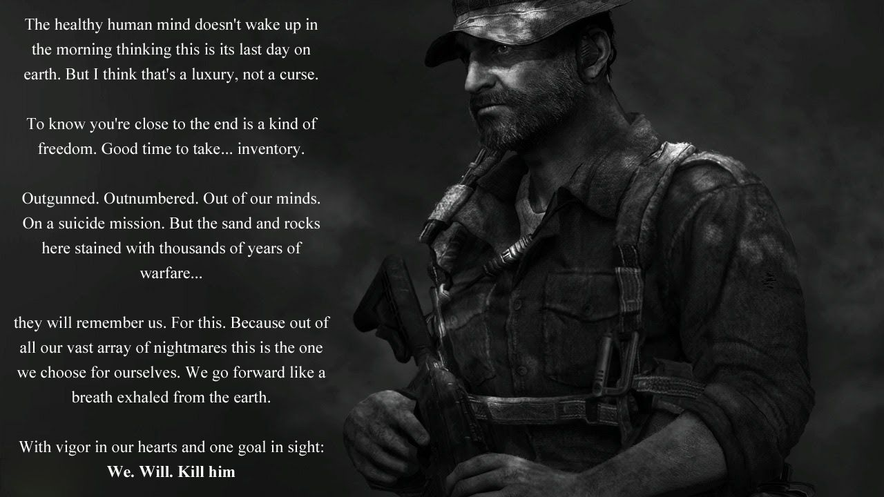 Callofduty Modernwarfare 2 Speech Via Reddit User Imakickuall Duty Quotes Video Game Quotes Human Mind