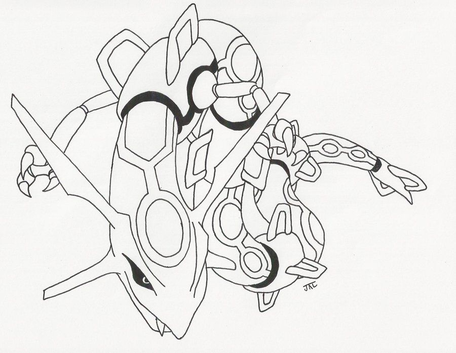 Rayquaza line art by neodragonarts on deviantart lineart - Coloriage pokemon rayquaza ...