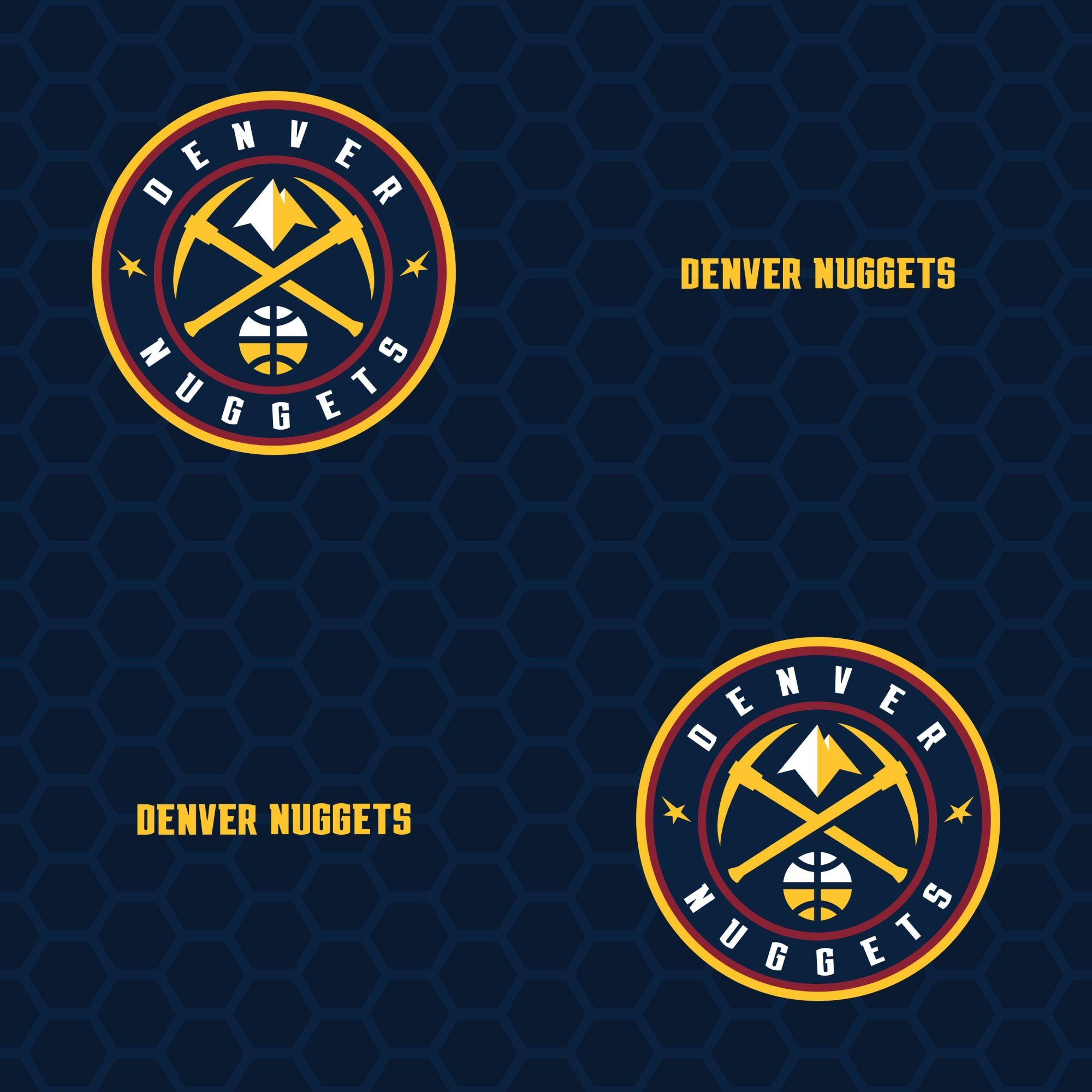 Denver Nuggets Logo Pattern (Blue) Officially Licensed