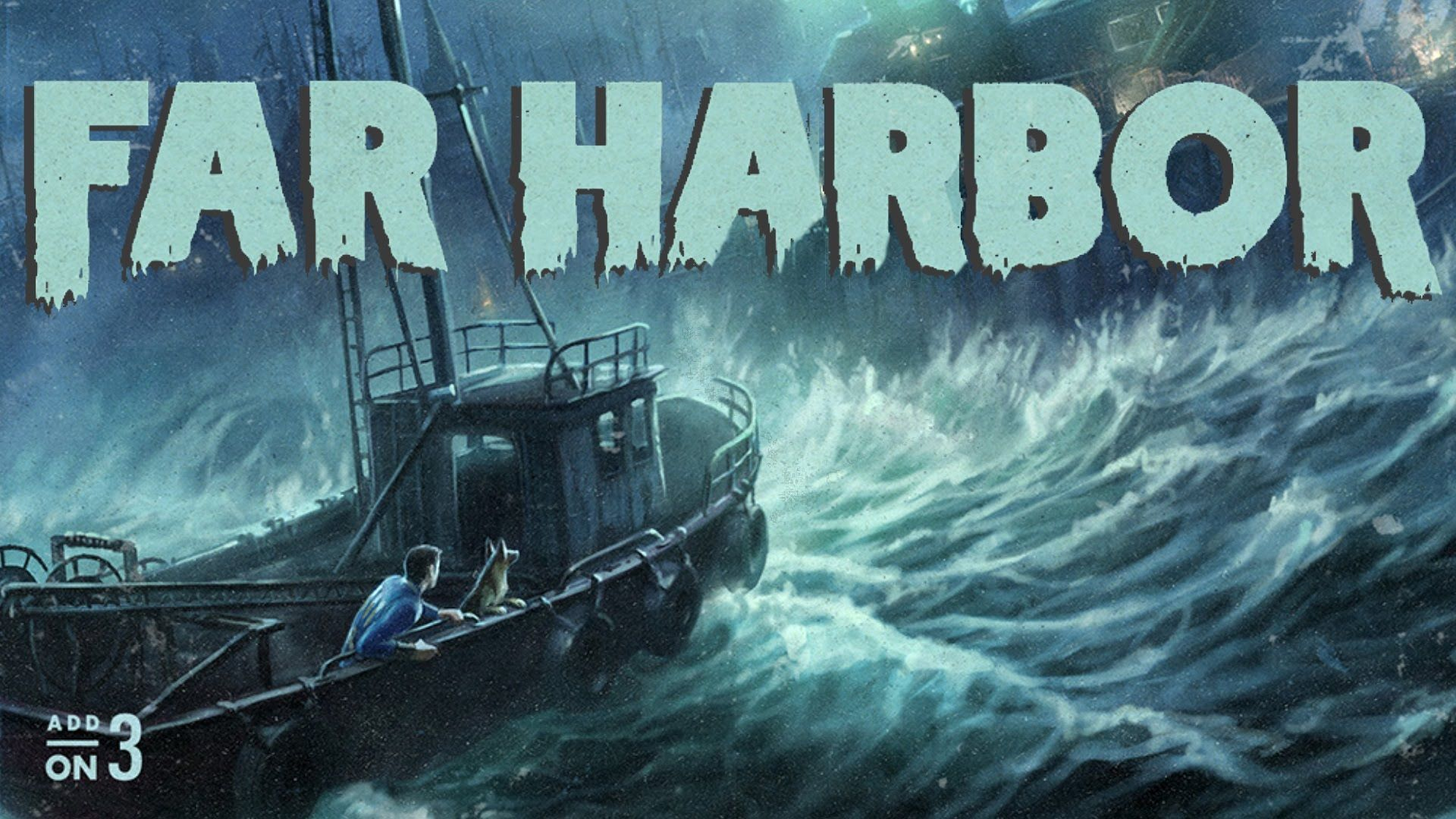 fallout far harbor - loving the poster styling