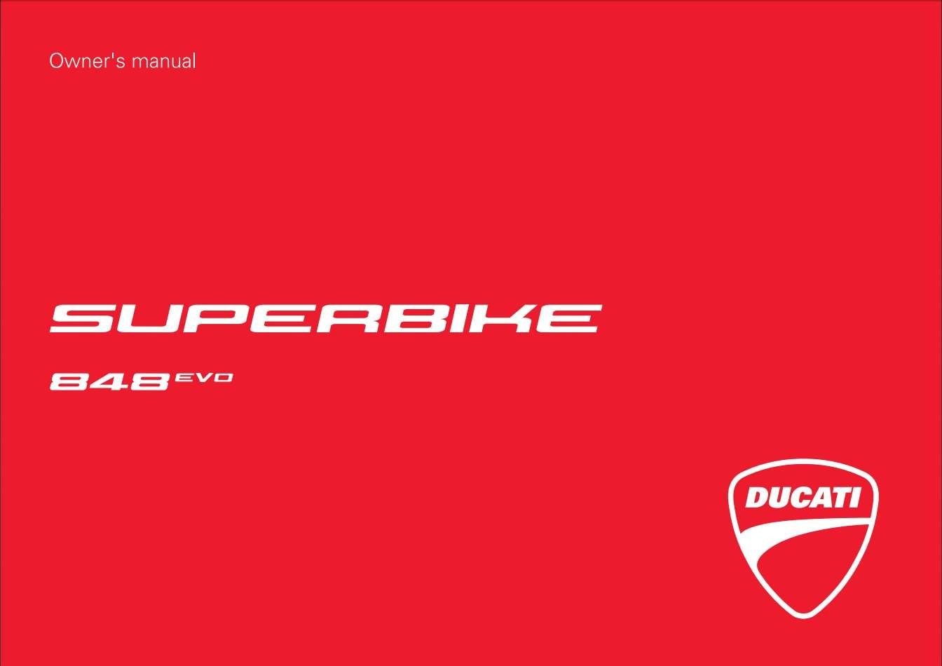 Ducati Sbk 848 Evo Usa My13 2012 Owner S Manual Has Been Published On Procarmanuals Com Https Procarmanuals Com Ducati Sbk 848 E In 2020 Owners Manuals Ducati Manual