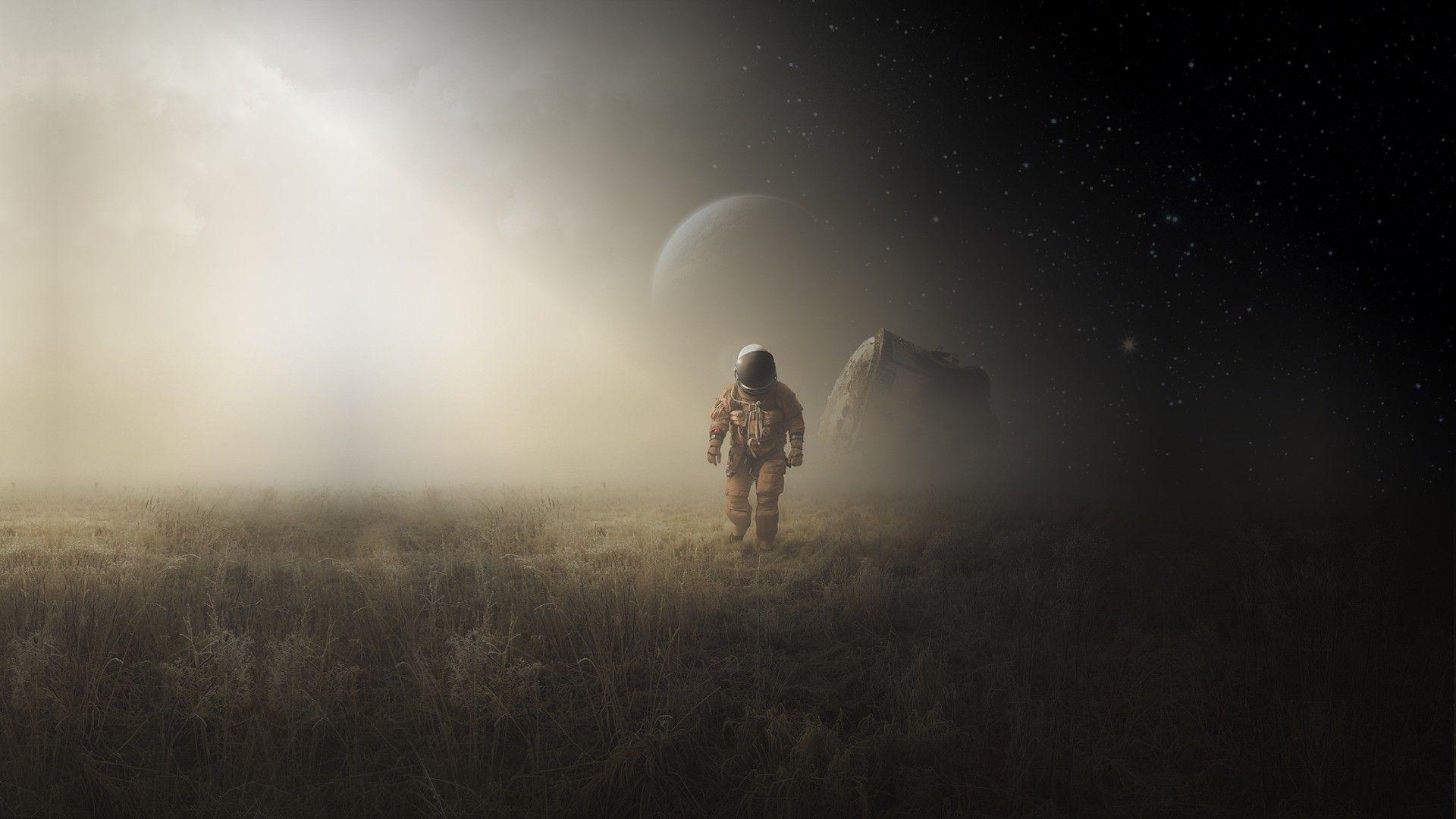 General 1920x1080 science fiction astronaut Michał