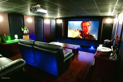 am nager son sous sol salle de jeux home cinema. Black Bedroom Furniture Sets. Home Design Ideas