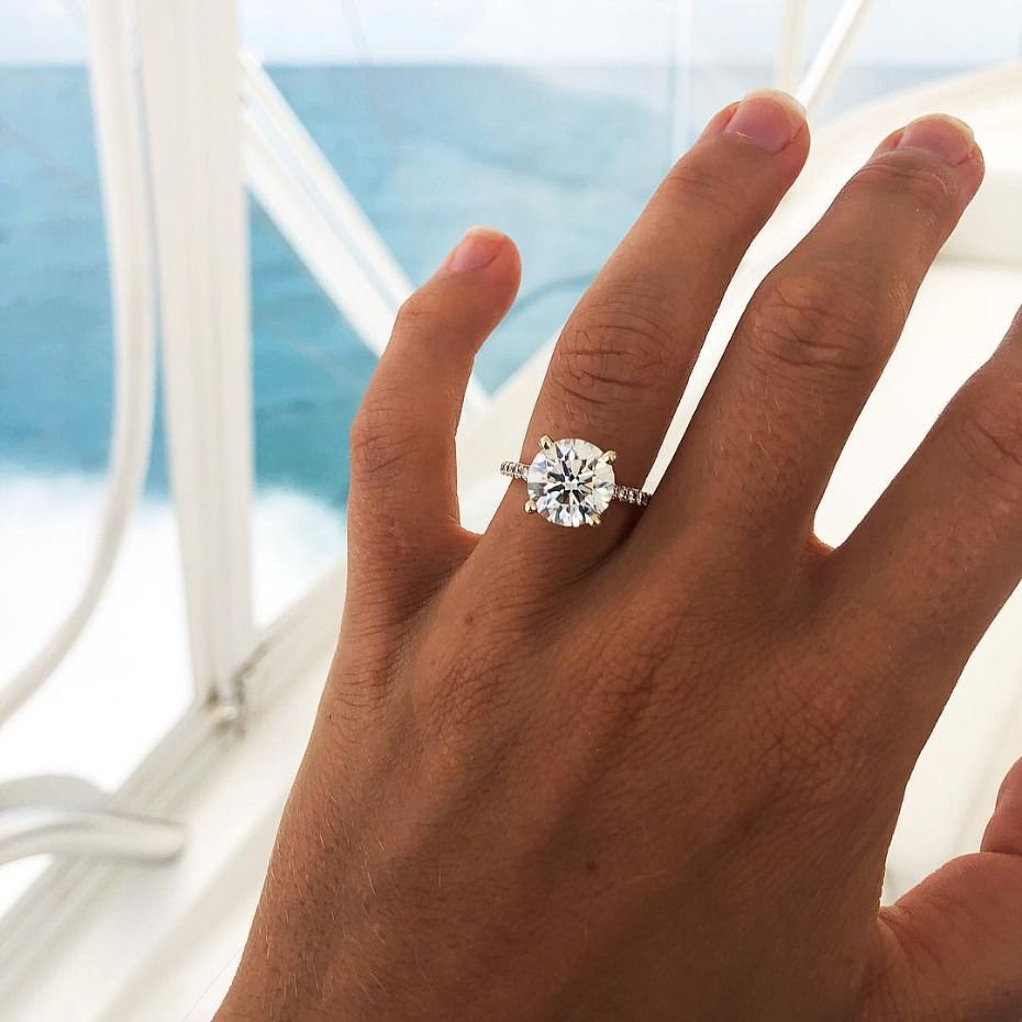 12 Big Rock Engagement Rings We Love Rn Classic Engagement Rings Modern Engagement Rings Round Diamond Engagement Rings