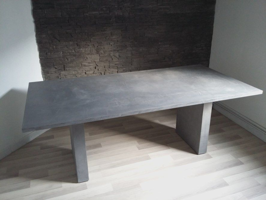 Agreable Table Effet Beton Cir Awesome Table Basse Scandinave Ronde
