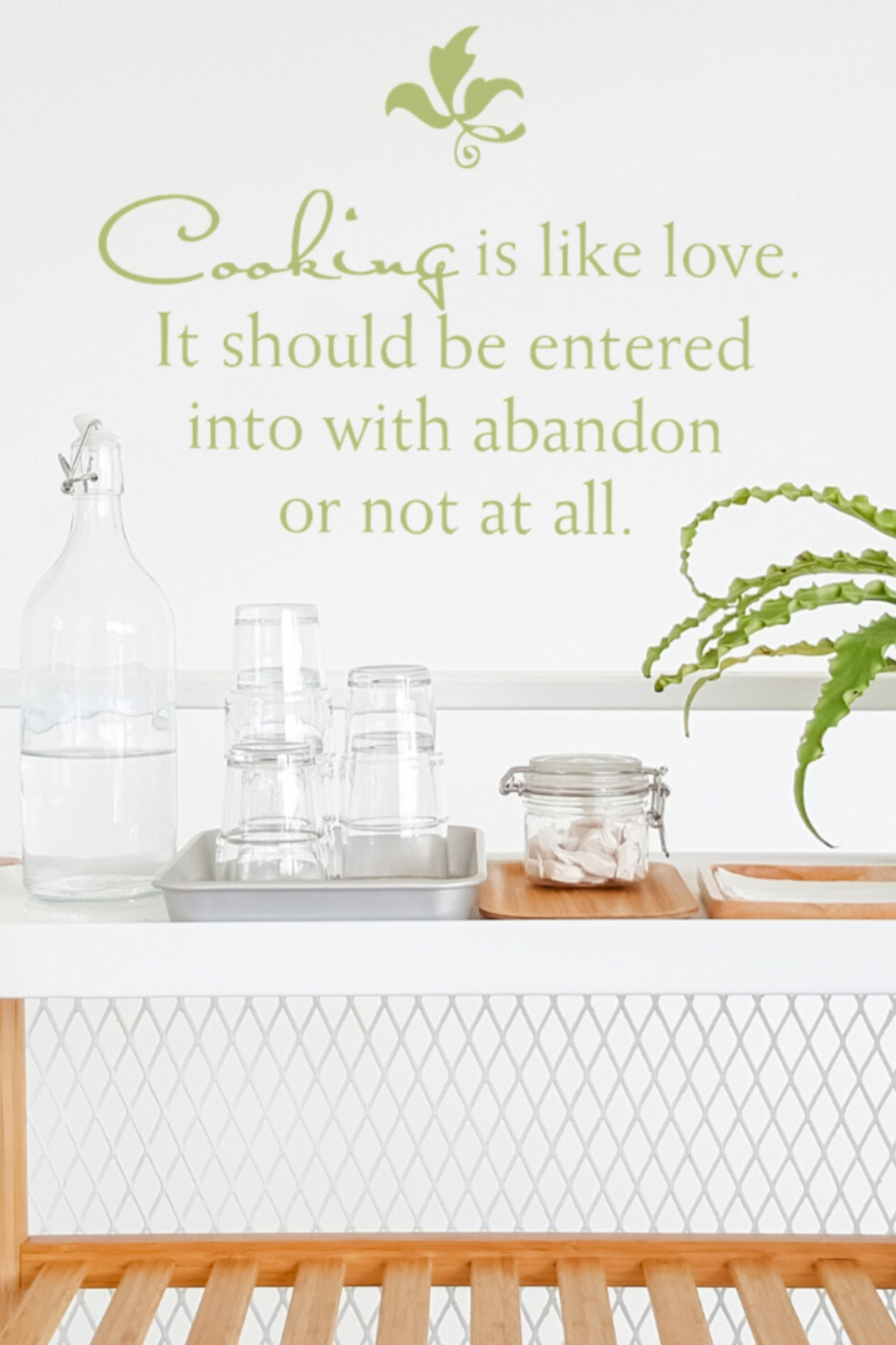 Cooking Is Like Love In 2020 Kitchen Wall Quotes Kitchen Art