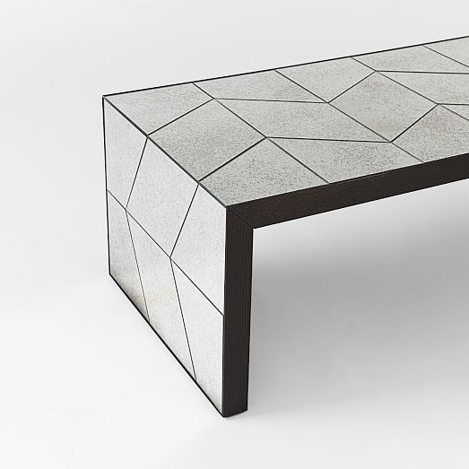 Herringbone Mirror Coffee Table West Elm Mirrored Coffee