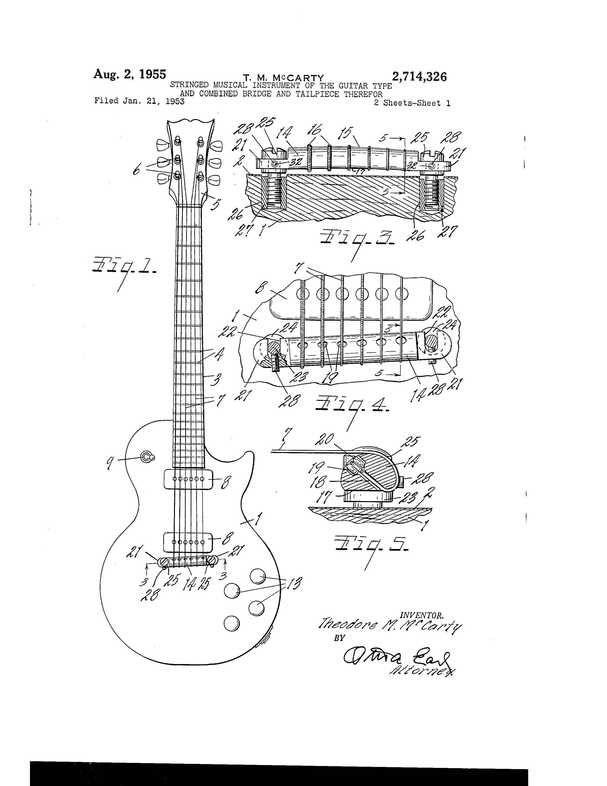Gibson Electric Guitar Patent