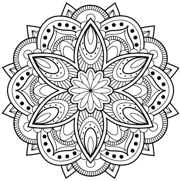 Mandela Coloring Pages Advanced Mandala Coloring Pages Extraordinary