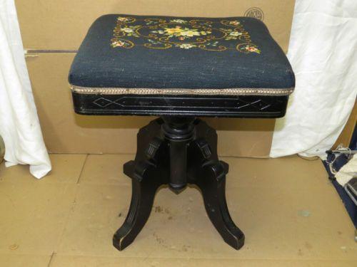 Antique Eastlake C W Chadwick Piano Bench Organ Stool
