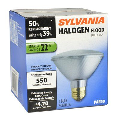 Sylvania halogen 39 watt par 30 shortneck medium base e 26 base shop sylvania halogen nfl at lowes canada find our selection of halogen light bulbs at the lowest price guaranteed with price match off aloadofball Images