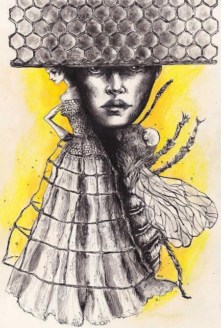 LEITMOTIV N° 10: The Beauty and the Bee Fashion illustration by Elisa Gibaldi