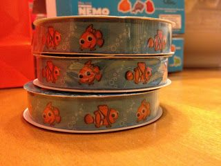 Nemo party: ribbon available at JoAnn's