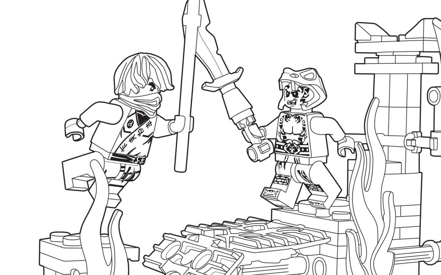 Ninjago coloring pages to color online - Lego Ninjago 70753 Coloring Sheet
