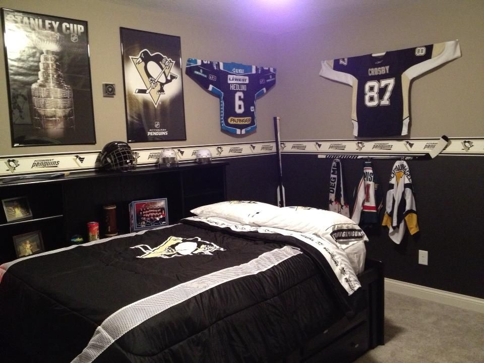 Awesome Collection Of Hockey Items To Make A Fun Boyu0027s Hockey Room! Nice Design