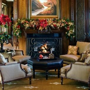 Welcome To Houzz Christmas Christmas Living Rooms Beautiful