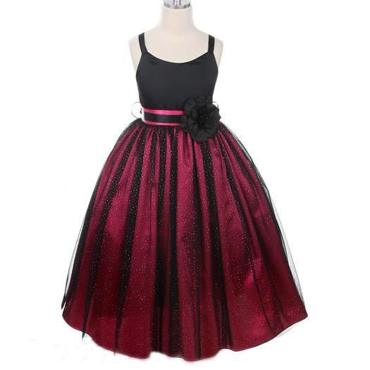belle couleur avant-garde de l'époque profiter de prix pas cher Robe cérémonie enfant tulle ceinture fleur pas cher ...
