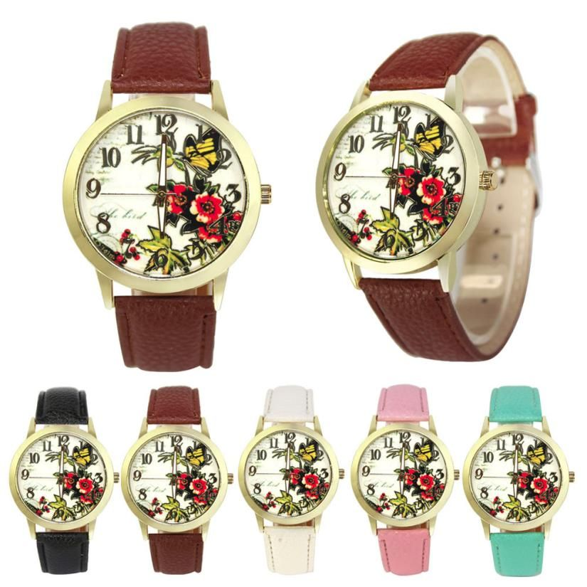 >> Click to Buy << BAOLANDE2016 Hot Sale Fashion Rose Flower Pattern Faux Leather Band Analog Quartz Vogue Watches Good-looking MA 12 #Affiliate