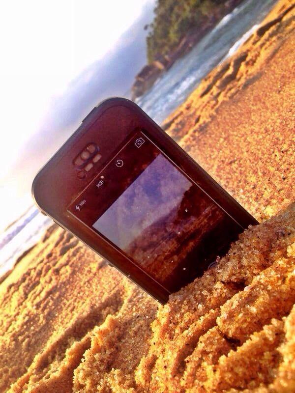 LifeProof na areia!