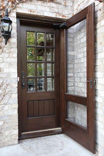Custom Black Walnut Door Walnut Doors Front Door With Screen